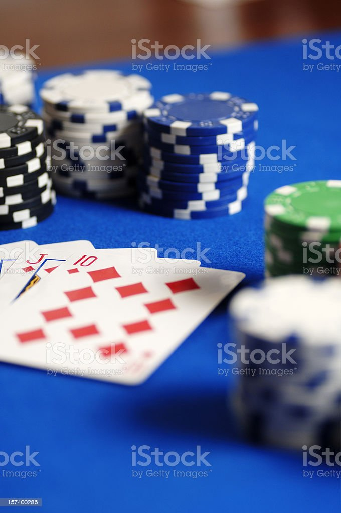 poker cards and chips royalty-free stock photo