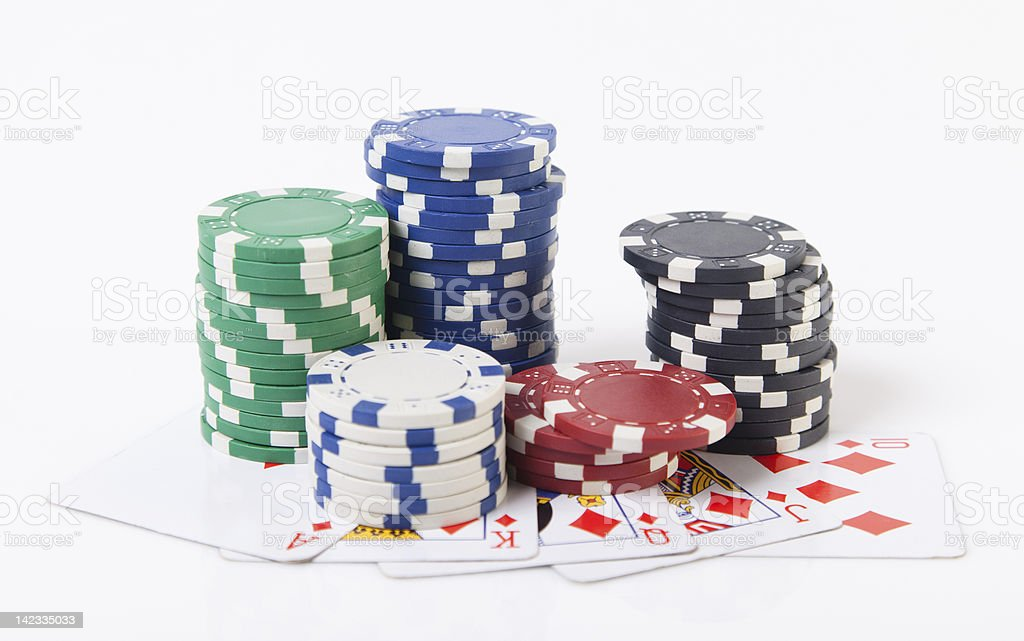 poker cards and tokens royalty-free stock photo