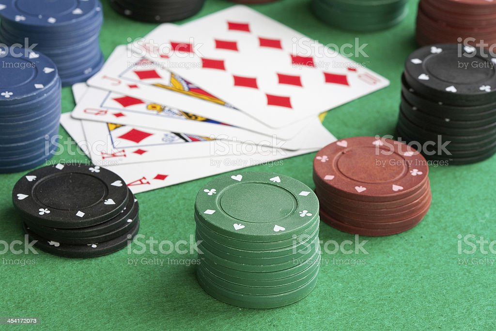Poker cards with straight flush royalty-free stock photo