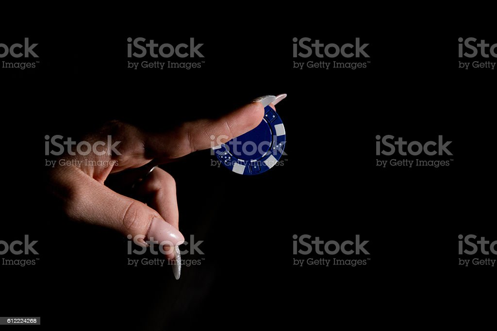 Poker chip stock photo
