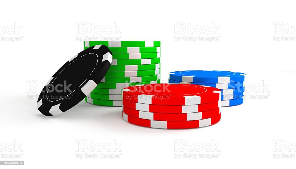 Poker chip stacks stock photo