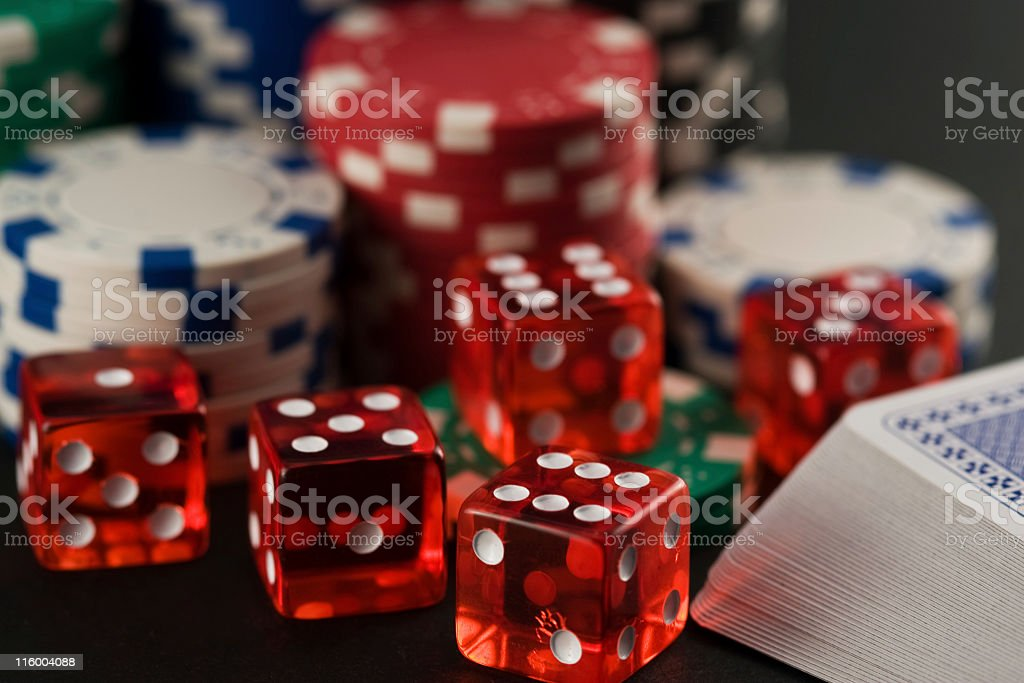 poker chips and cards royalty-free stock photo
