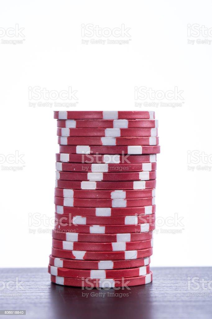 Poker chips for casino game stock photo
