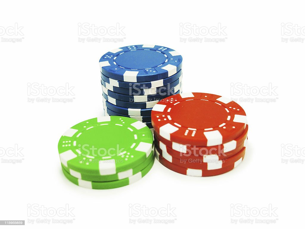 Poker Chips isolated - Clipping path royalty-free stock photo
