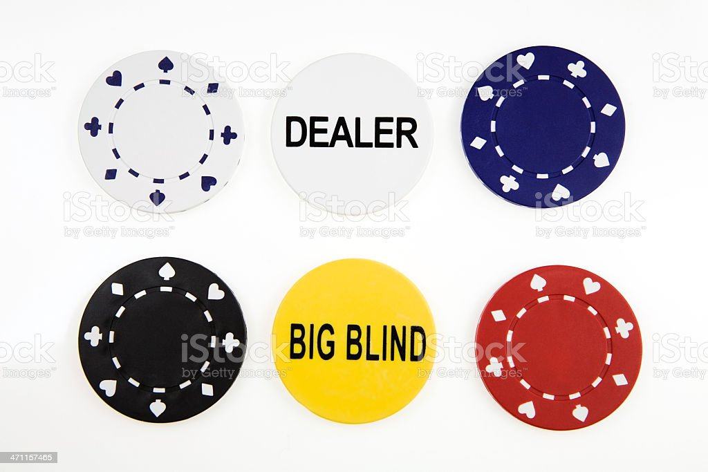 Poker Chips on White royalty-free stock photo