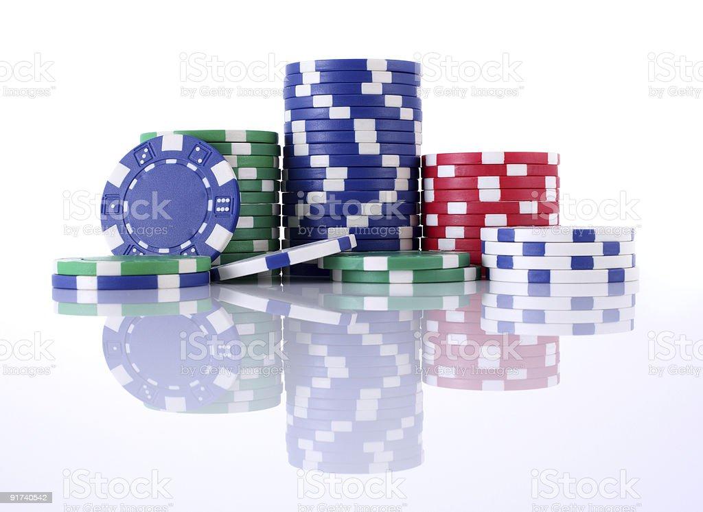 Покер фишки Стоковые фото Стоковая фотография