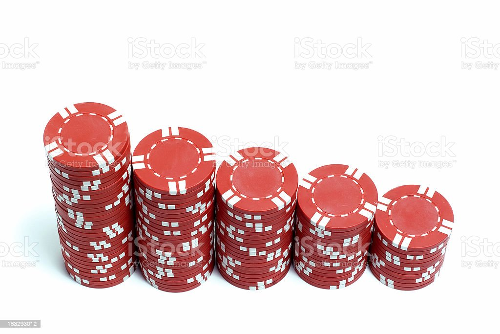 Poker Chips Stacked stock photo