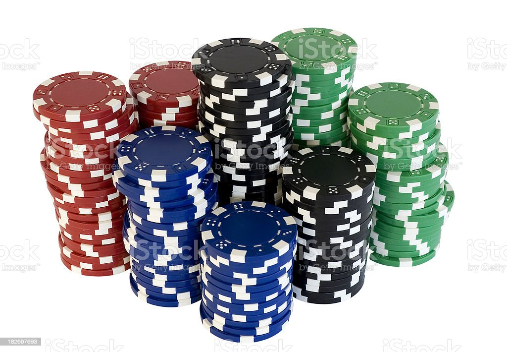 Poker chips stacks. stock photo