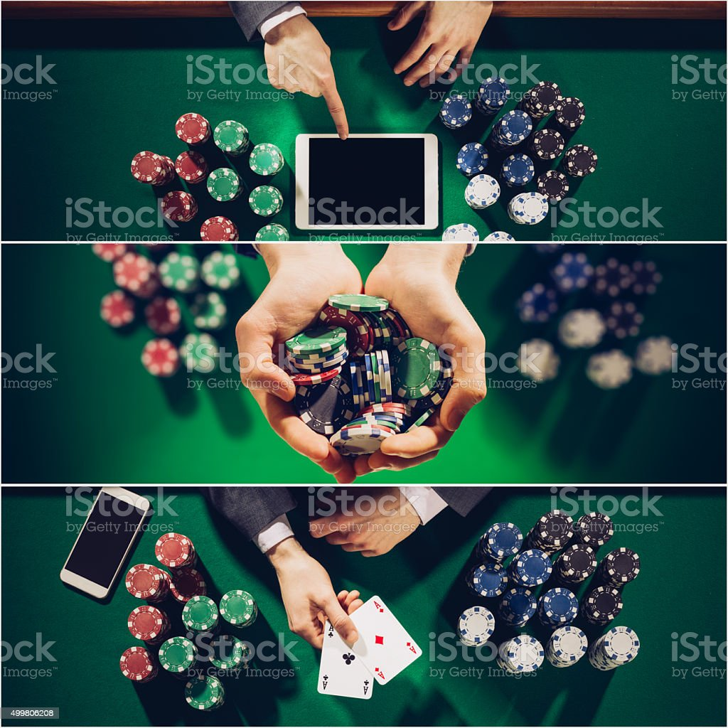 Poker collage stock photo
