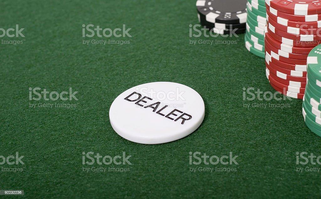 Poker Dealer stock photo