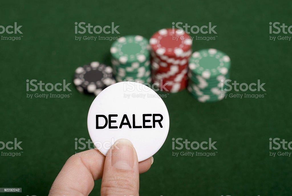 Poker Dealer royalty-free stock photo