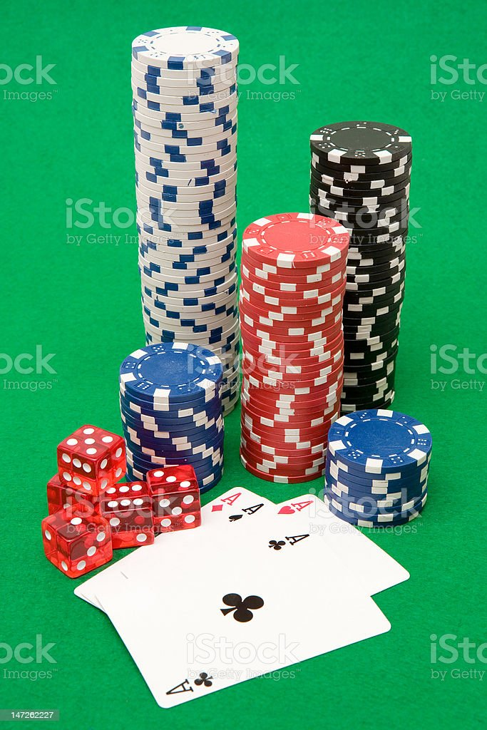 Poker Equipment stock photo