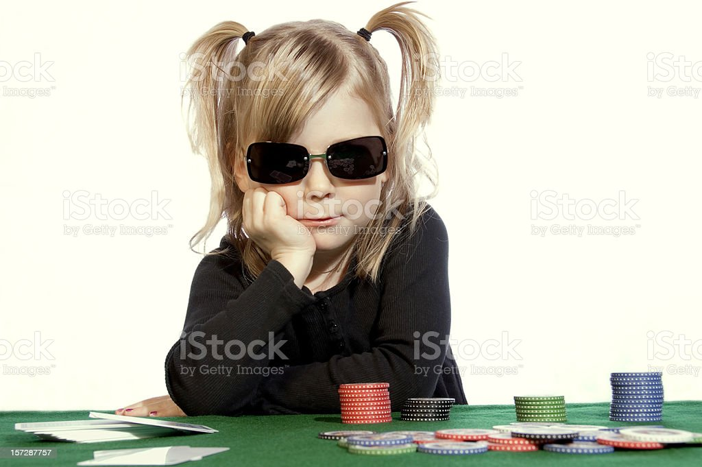 Poker Face royalty-free stock photo
