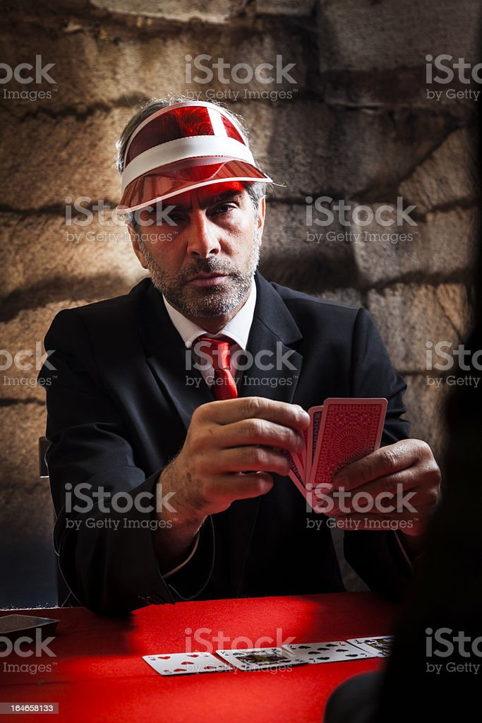 Poker Face . Portrait stock photo