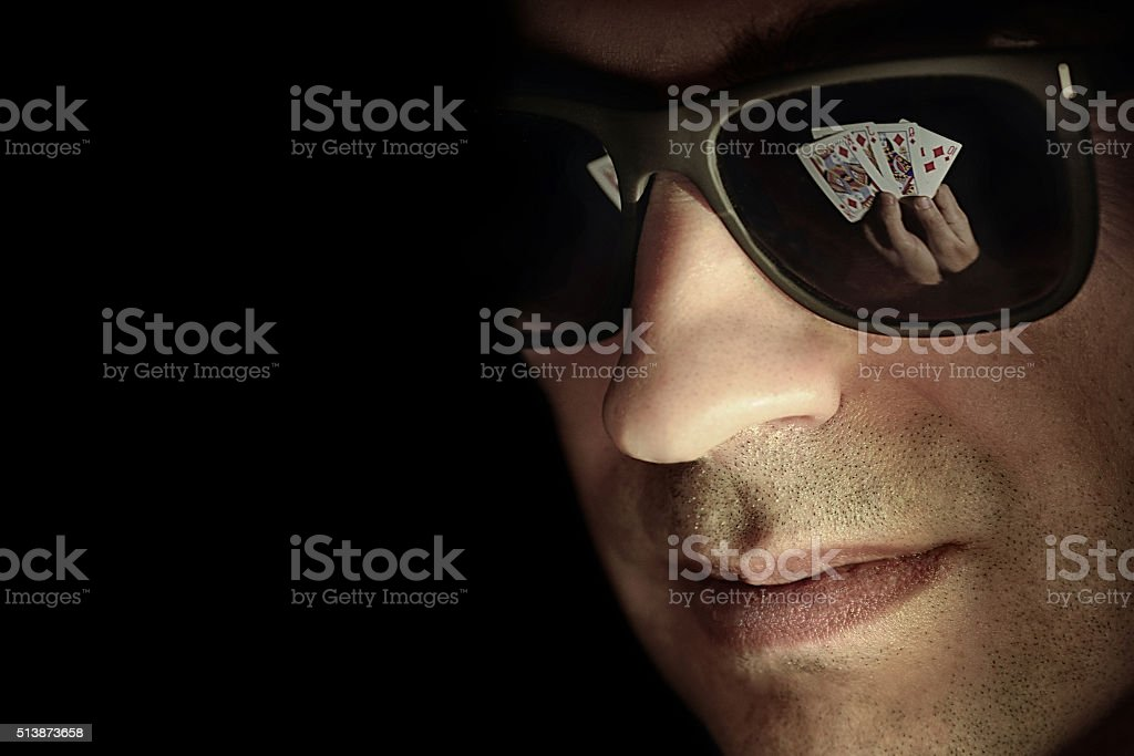 poker gambler stock photo