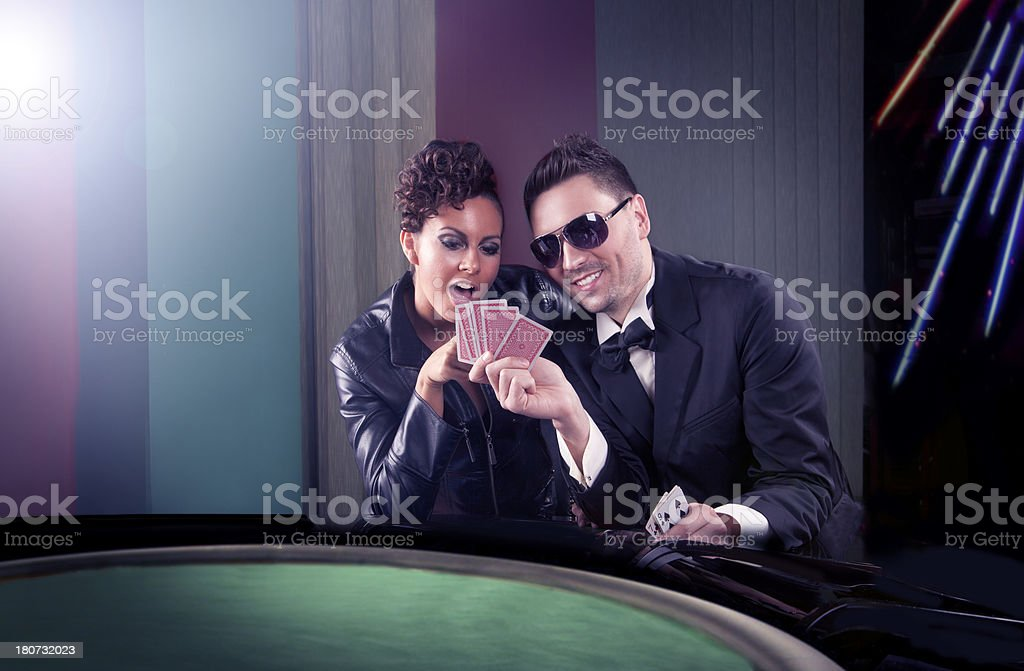 Poker game - couple royalty-free stock photo