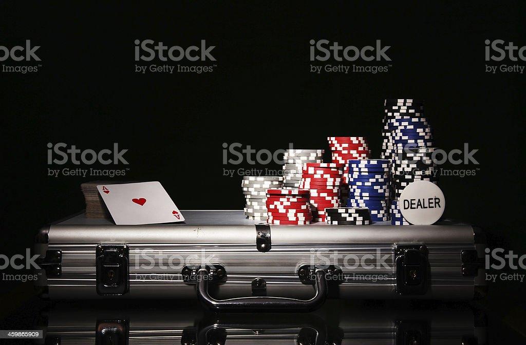 Poker game royalty-free stock photo