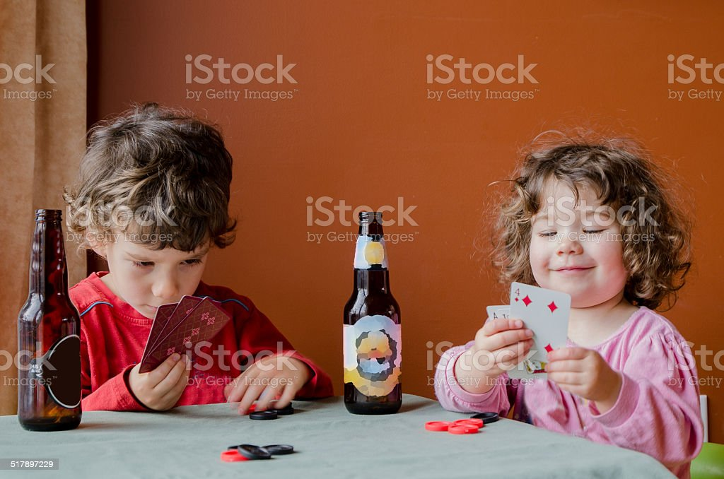 Poker game stock photo
