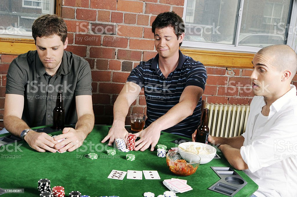 Poker Game Series: All In royalty-free stock photo