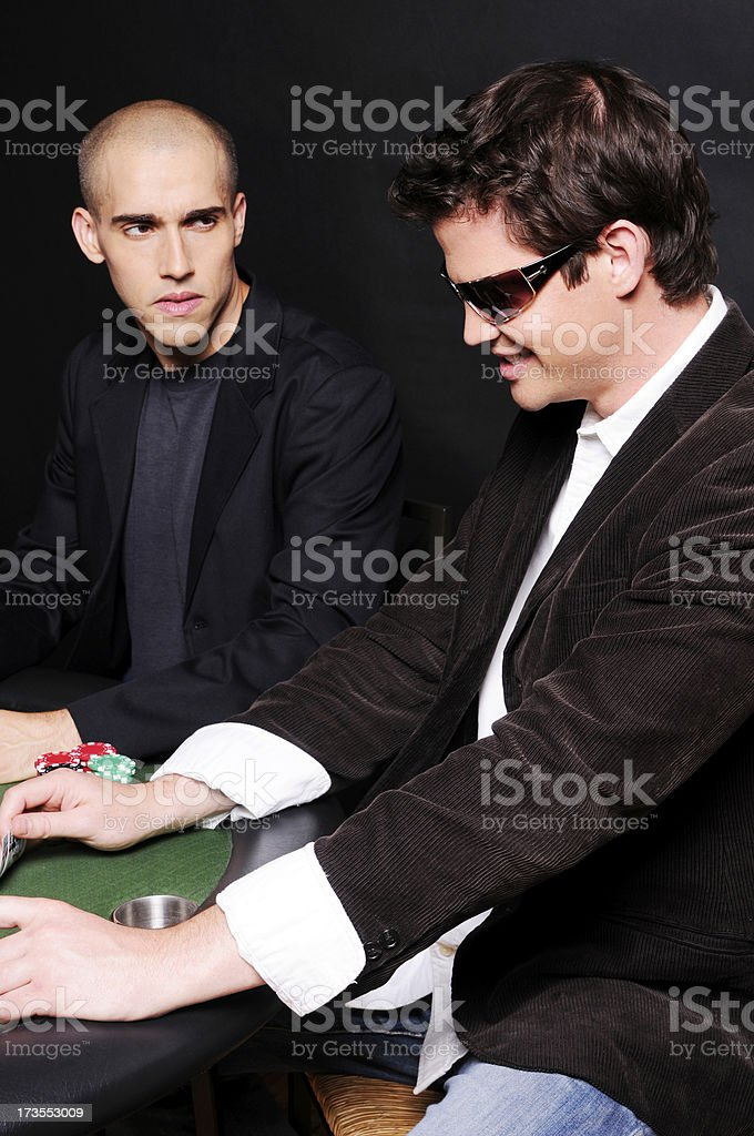 Poker Game Series: Anger at the Table stock photo