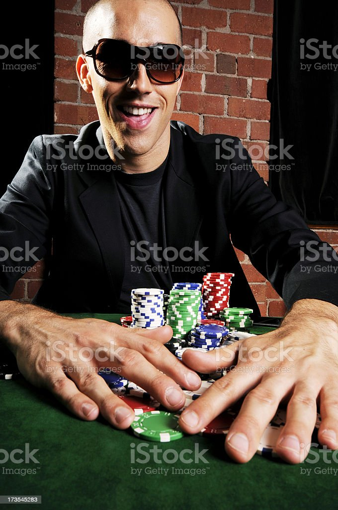 Poker Game Series: Big Winner royalty-free stock photo