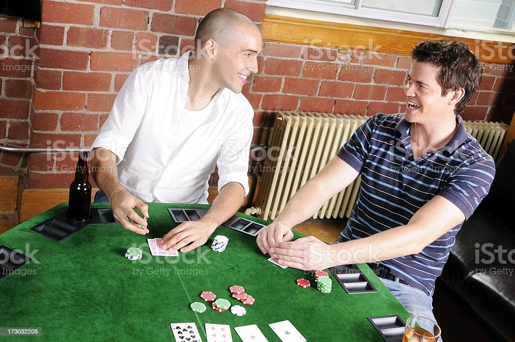 Poker Game Series: Friends Playing royalty-free stock photo