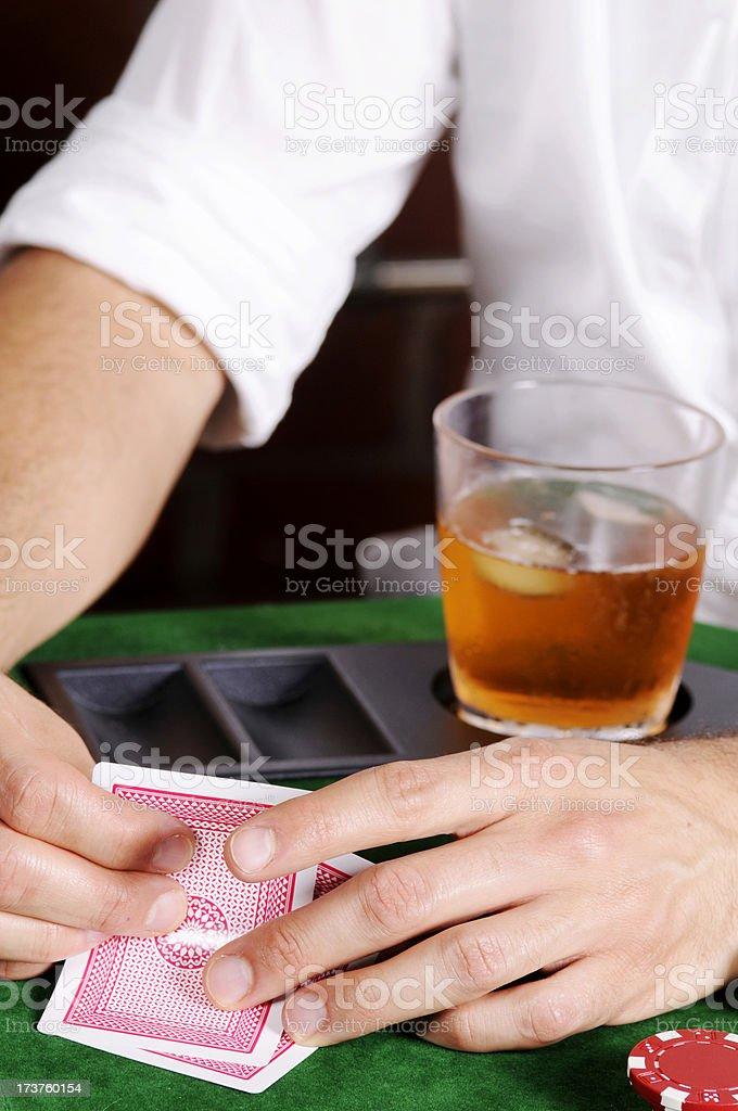 Poker Game Series: Hand Close-up stock photo