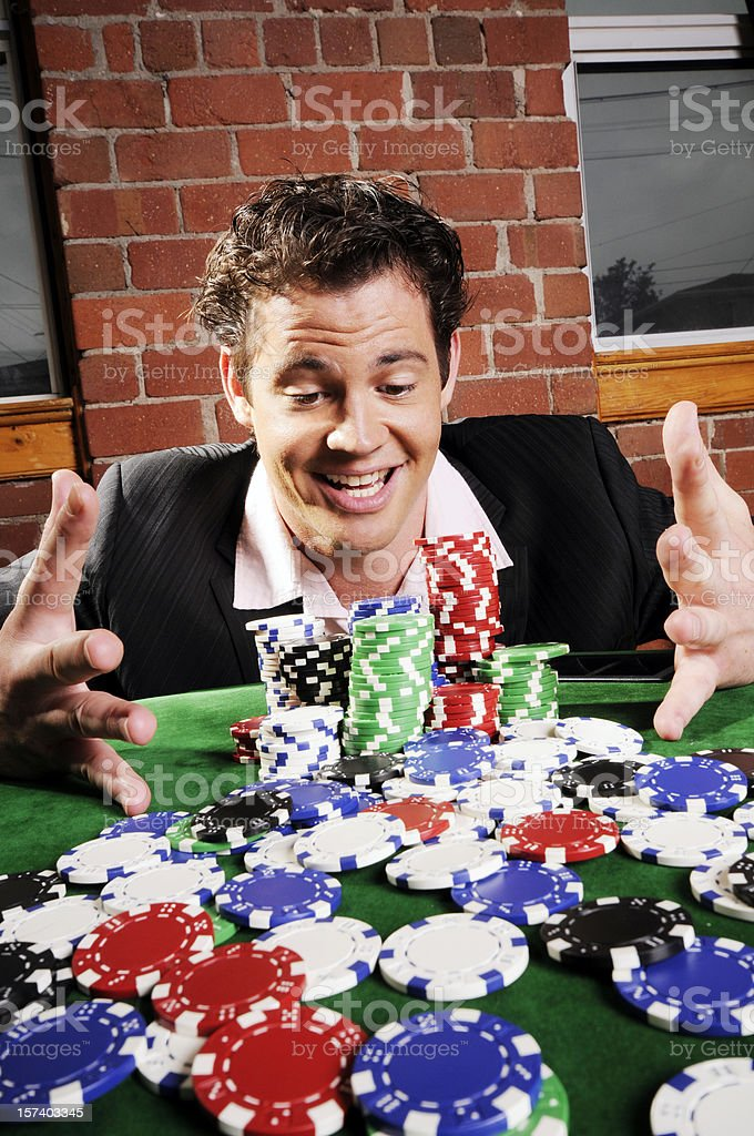Poker Game Series: The Big Win royalty-free stock photo