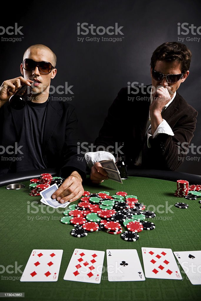 Poker game - two players royalty-free stock photo