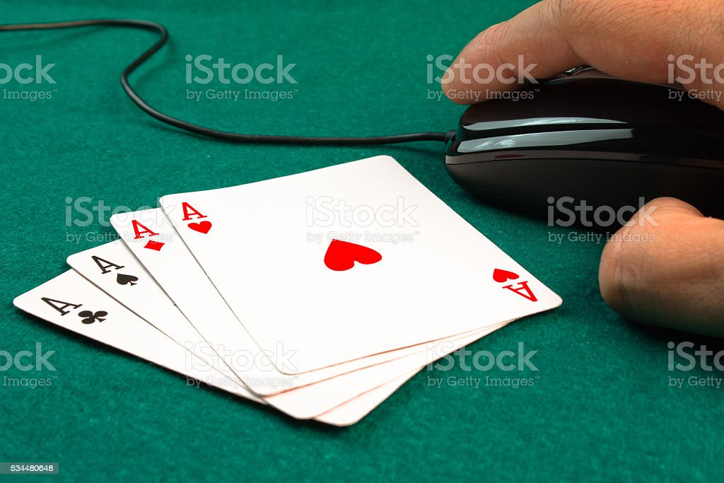 poker games online stock photo