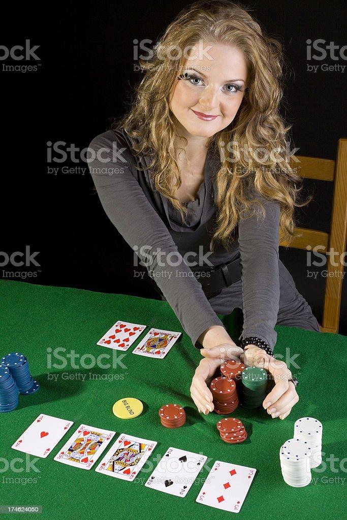 Poker girl royalty-free stock photo