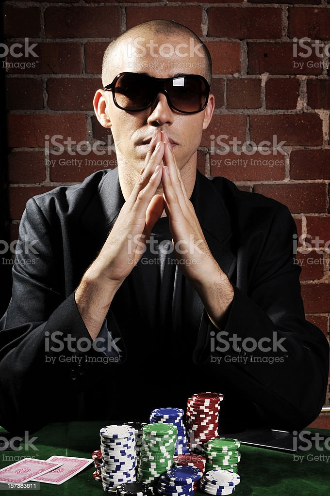 Poker God royalty-free stock photo