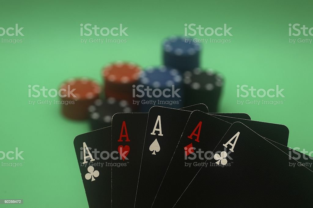 Poker Hand - 5 Aces royalty-free stock photo