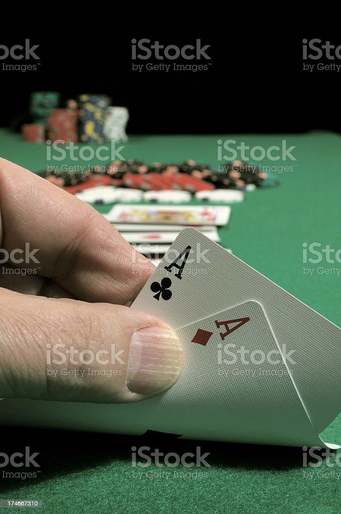 Poker Hand Bullets royalty-free stock photo