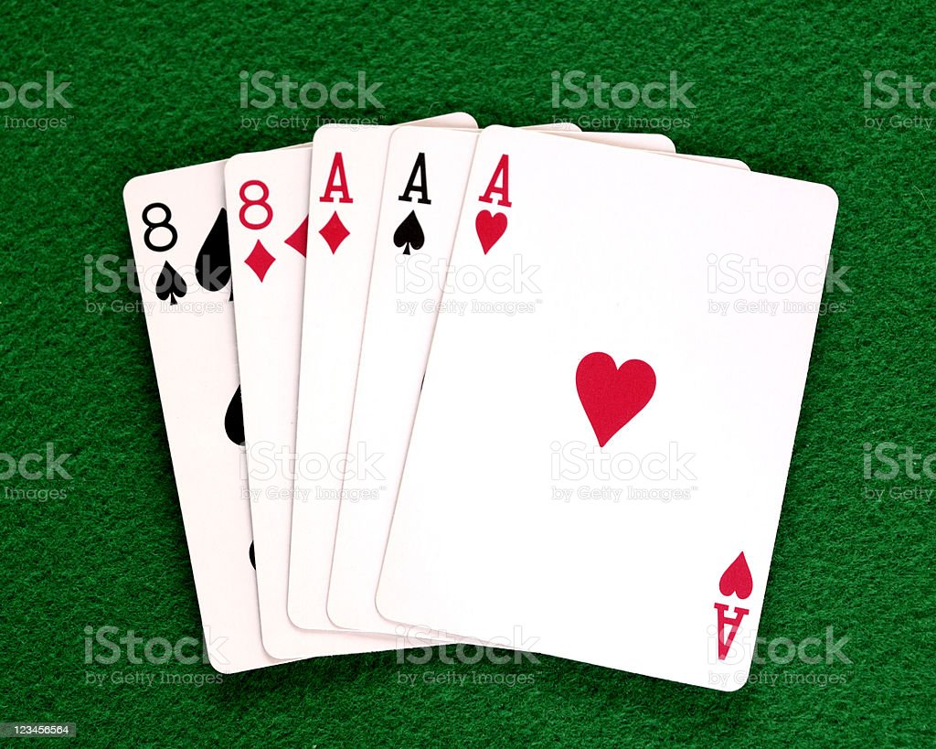 Poker Hand, Full House royalty-free stock photo