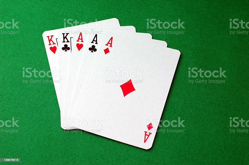 Poker Hand: Full House stock photo