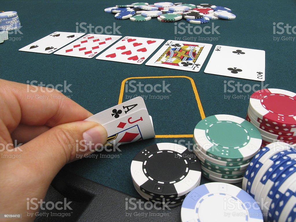 Poker Hand #9 - one pair royalty-free stock photo
