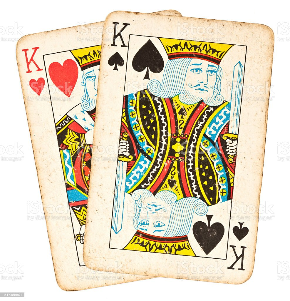 Poker Hand - Pair of Kings stock photo
