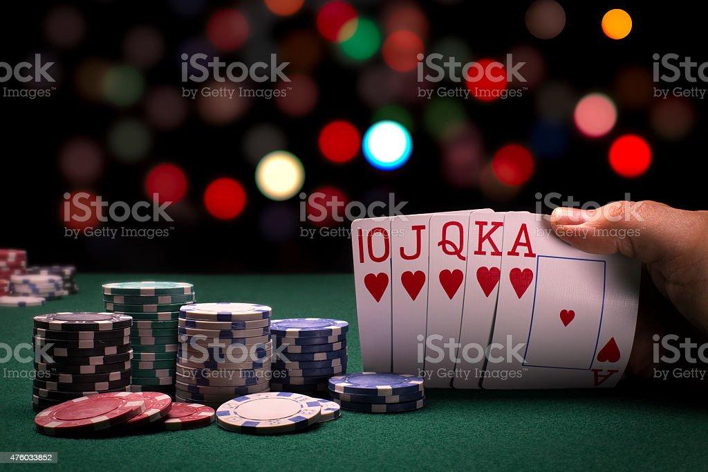 Mão de Poker foto royalty-free