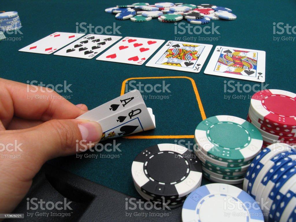 Poker Hand #1 - Royal Flush royalty-free stock photo