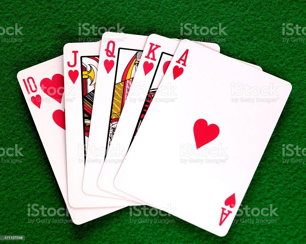 Poker Hand, Royal Flush royalty-free stock photo