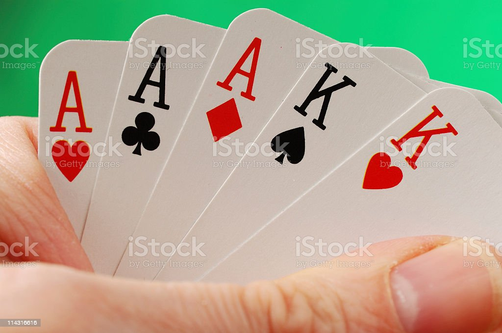 Poker Hand Series - Full House stock photo