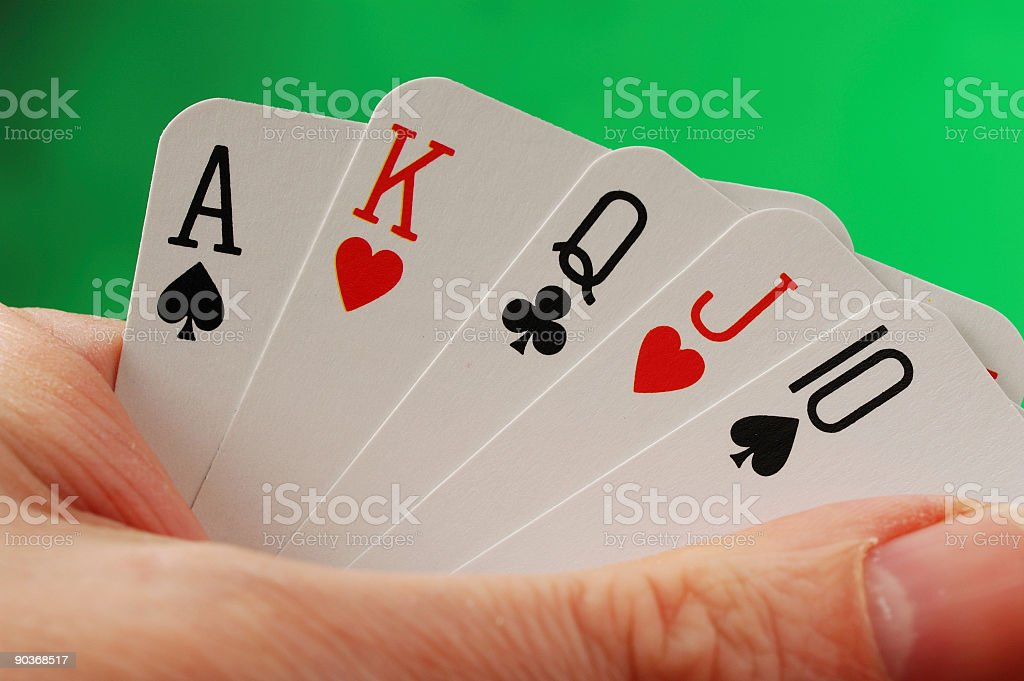 Poker Hand Series - Straight stock photo