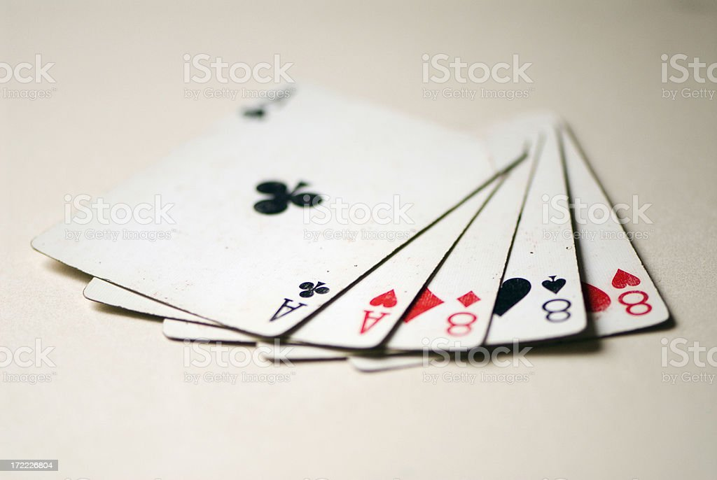 Poker Hands - Full House royalty-free stock photo