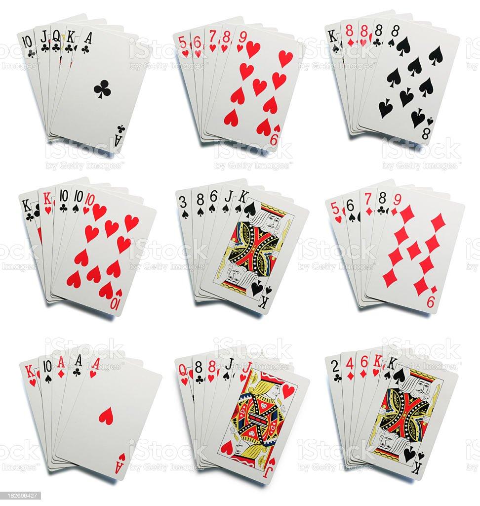 Poker Hands royalty-free stock photo