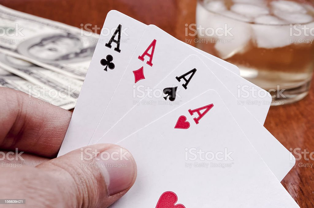Poker in the hand royalty-free stock photo