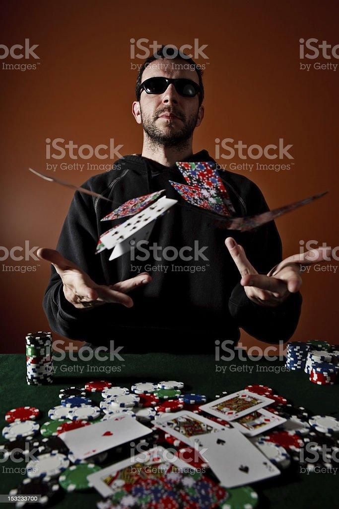 Poker King stock photo