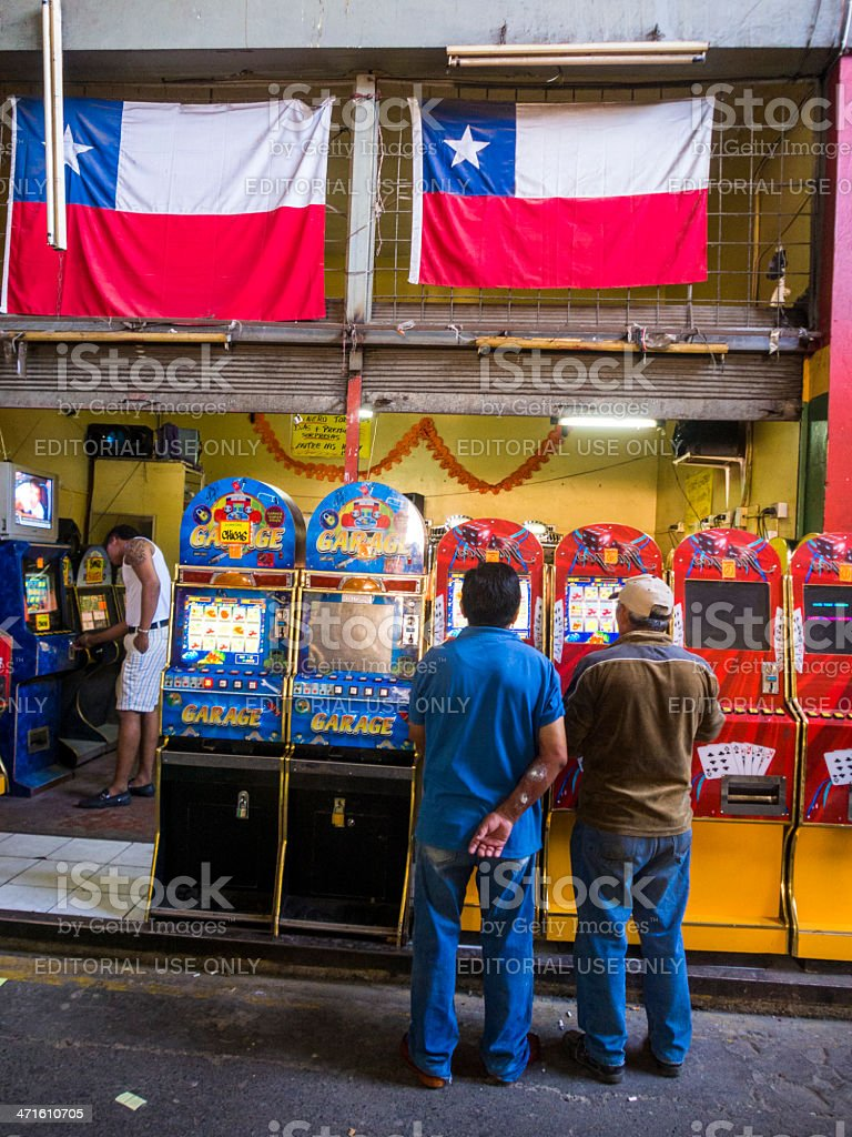 Poker Machines, Santiago de Chile stock photo