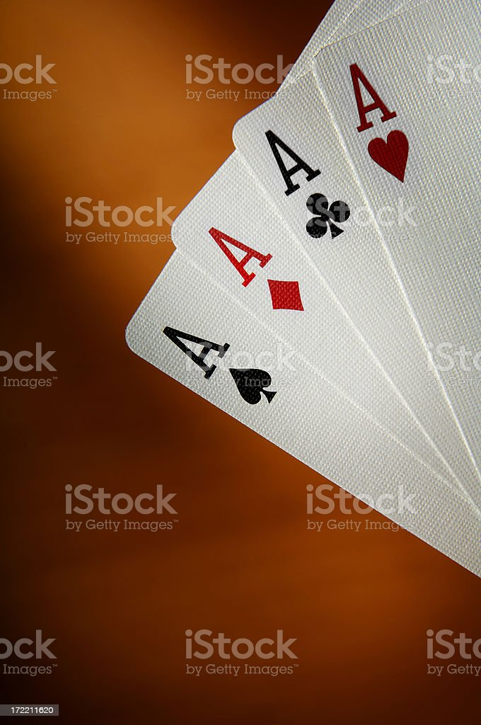 Poker of ace's stock photo