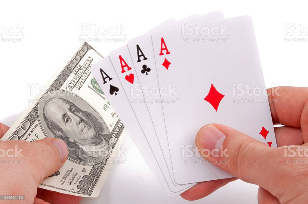 Poker of aces stock photo